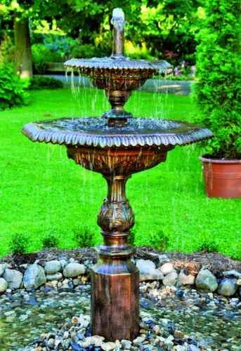 Kleiner au en wasser springbrunnen gartenbrunnen 2 schalen - Kleiner springbrunnen garten ...