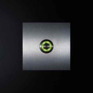 Klingelknopf Edelstahl beleuchtet Led grün außen