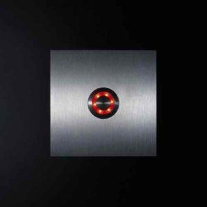 Klingelknopf Edelstahl beleuchtet Led rot außen