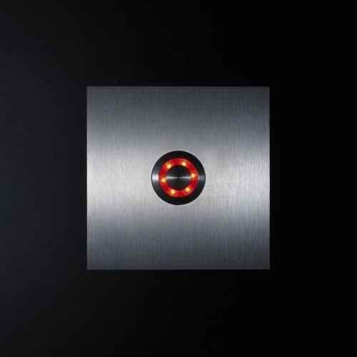 klingelknopf edelstahl beleuchtet led rot au en t rklingel. Black Bedroom Furniture Sets. Home Design Ideas