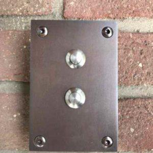 Klingelplatte Bronze 2 Fach