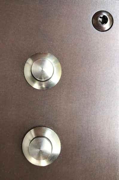 Klingelplatte aus Bronze Detail
