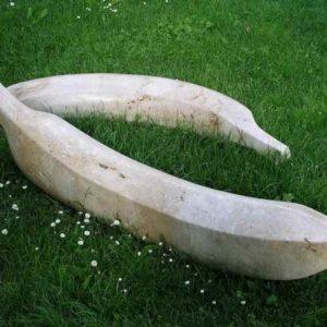 Kunst außen Bananen Stein