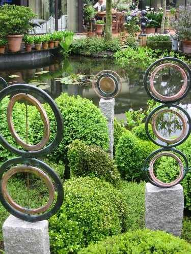 Kunst Ringe aus Kuper Garten