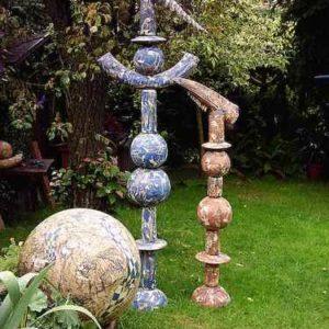 Kunstwerk Vogelpaar Garten