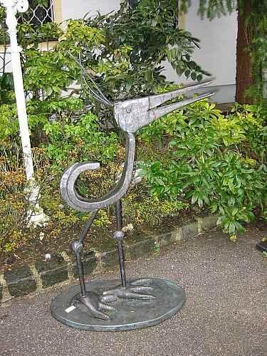 Kupfer Figur Vogel Kunstobjekt