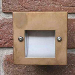 Kupfer Wandeinbauleuchte quadratisch außen