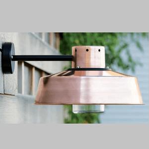 angenehme Kupfer Wandlampe außen