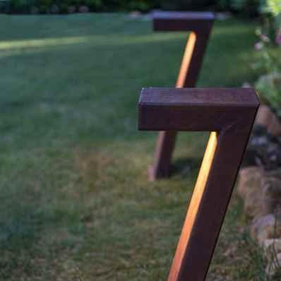 LED Cortenstahl Gartenleuchten
