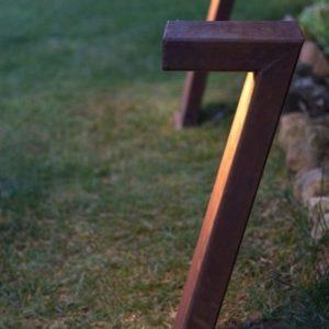 LED Cortenstahl Gartenleuchte