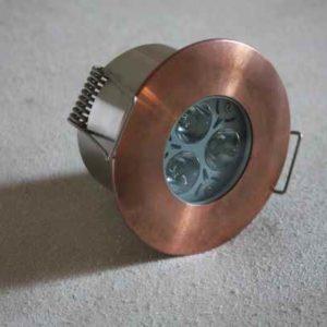 LED Decken Einbaustrahler Kupfer außen