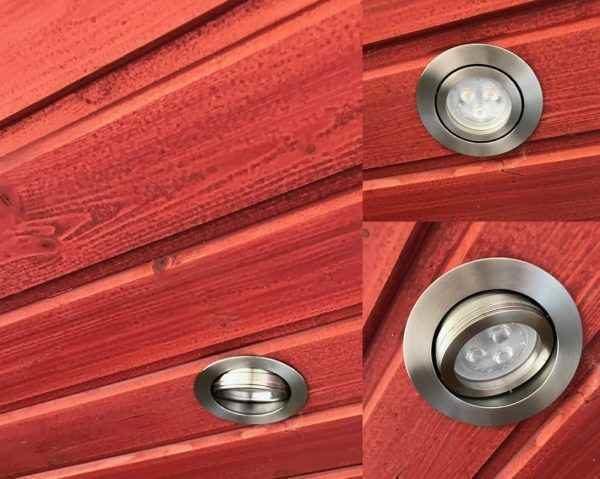 LED Edelstahl Einbau Schwenkstrahler außen