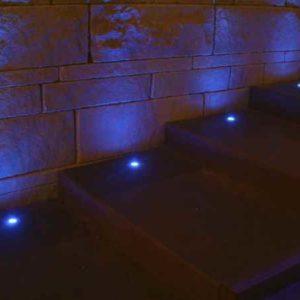 LED  Minispot  Edelstahl Treppenstufen