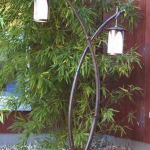 Leuchte in Bambus