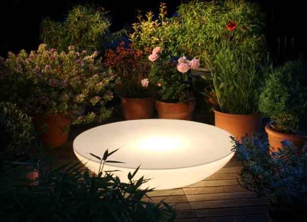 garten lichtobjekt leuchte und beistelltisch f r au en. Black Bedroom Furniture Sets. Home Design Ideas