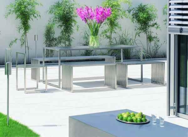 philipp plein edelstahl sitzbank au en innen moderner l. Black Bedroom Furniture Sets. Home Design Ideas