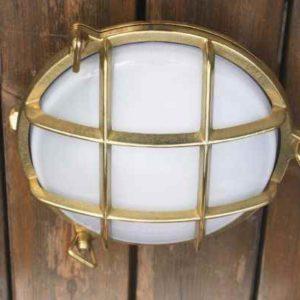 Messing Außen Wandlampe Deckenlampe rund