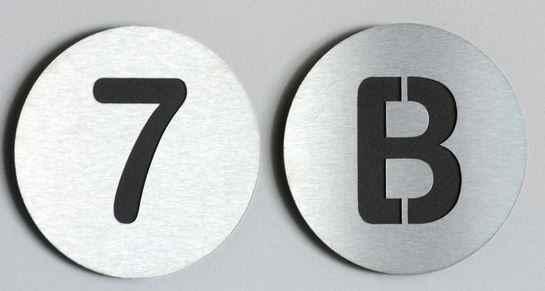 oderne Edelstahl Hausnummern Beispiel 2