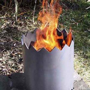 Moderne Feuertonne für Garten +Terrasse Design