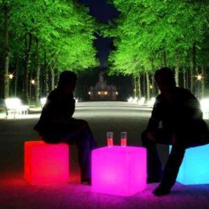 moderne Led außen Sitzmöbel beleuchtet