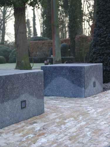 moderne Wandeinbauleuchte quadrat