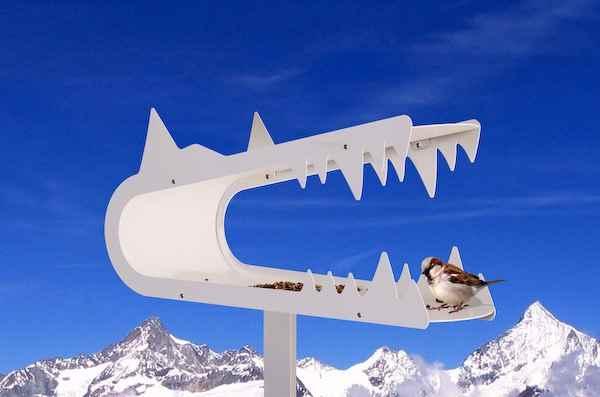 Wolf design vogelhaus f r den modernen garten - Modernes vogelhaus ...