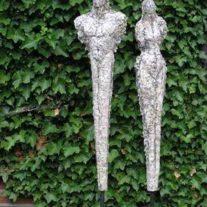 Paar Garten-Skulptur