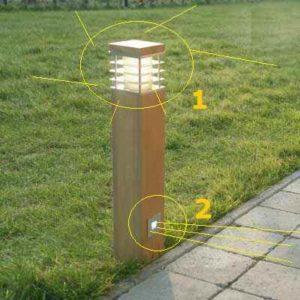 Pollerleuchte mit 2 Lichtquellen