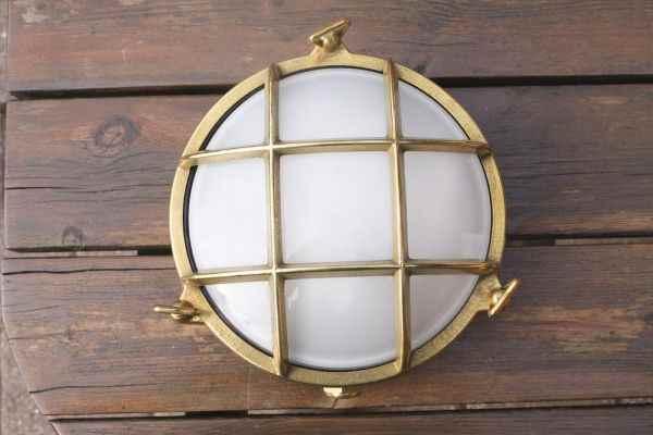 Maritime Beleuchtung messing wandlen deckenleuchte rund außen