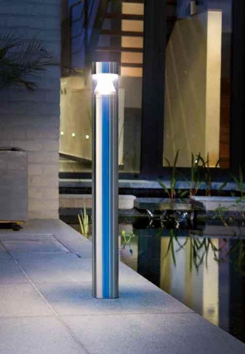 professionelle led edelstahl pollerleuchte f r den outdoorbereich. Black Bedroom Furniture Sets. Home Design Ideas