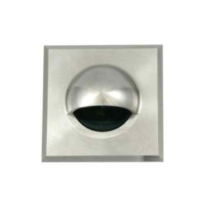 quadratische Wandeinbaulampe außen Edelstahl blendfrei