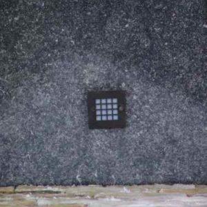 quadratische Wandeinbaulampe Garten