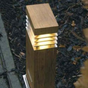 Rechteckiger Holz Lichtpoller für außen