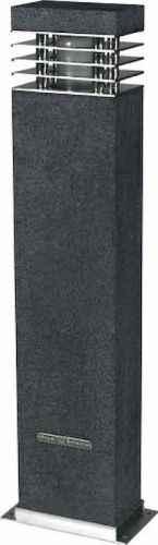 rechteckiger lichtpoller f r au en granit und edelstahl. Black Bedroom Furniture Sets. Home Design Ideas