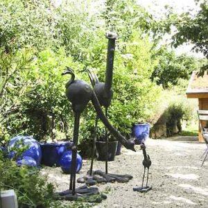 Riesen Straußen Gartenfiguren