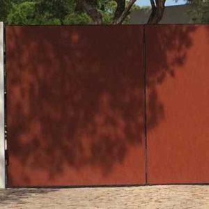 Rotes Eingangstor für Ihr Eigenheim?