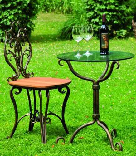 schmiedeeiserne gartenmobel, schmiedeeiserner tisch und stuhl edle garten sitzecke wie in a, Design ideen