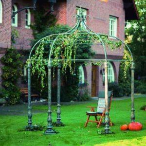 schmiedeeiserner offener Gartenpavillon