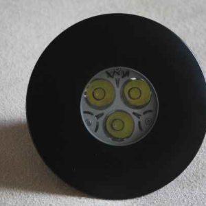 schwarzer Led Deckeneinbaustrahler außen