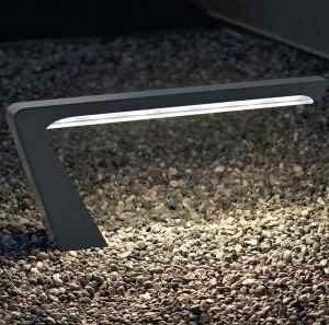 Außenlampen silber grau