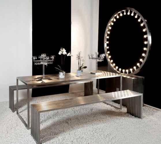 Steel table + bench daytona