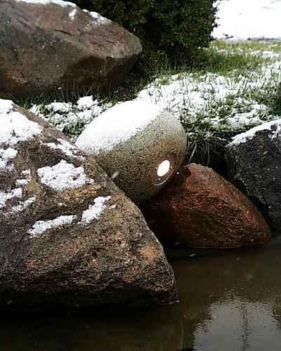 Teichbeleuchtung Winter