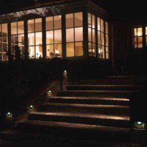 Treppenlage außen beleuchtet