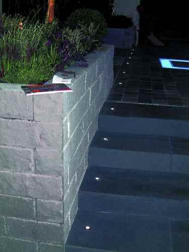 Kleiner LED Minispot Edelstahl V2A für Außen Wand Bodenei