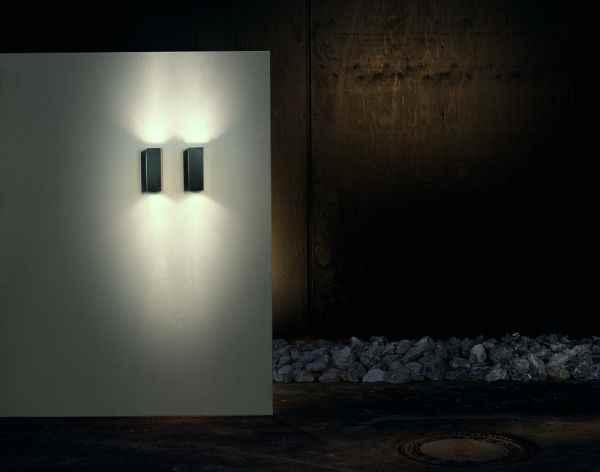 wandleuchte au en edelstahl geb rsteter oder polierter ka. Black Bedroom Furniture Sets. Home Design Ideas