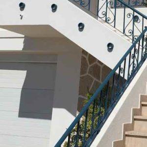 Verziertes Treppengeländer