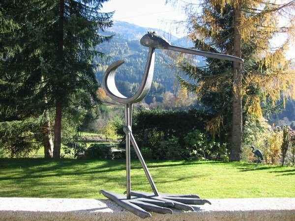Vogel moderne Kunst Garten und Terrasse