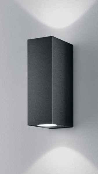 anthrazitfarbene led wandleuchten f r au en modernes design. Black Bedroom Furniture Sets. Home Design Ideas