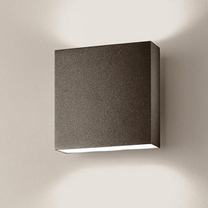 wandlampe au en braun quadratisch led f r au en. Black Bedroom Furniture Sets. Home Design Ideas