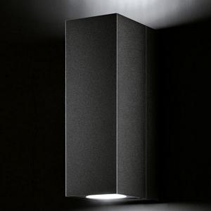 Wandlampe außen schwarz rechteckig up down